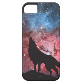 Wolf Howling in Galaxy iPhone SE/5/5s Case