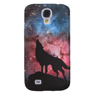 Wolf Howling in Galaxy Samsung Galaxy S4 Case