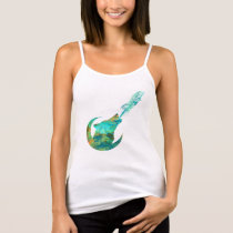 Wolf Howling in Galaxy Tank Top