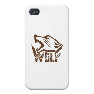 Wolf Howling Retro iPhone 4/4S Cover