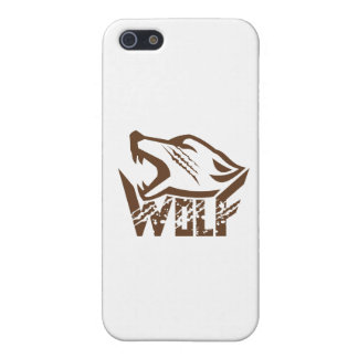 Wolf Howling Retro iPhone SE/5/5s Case