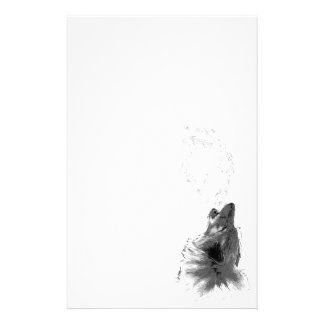 Wolf Howling Stationery