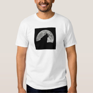 wolf howling t shirts
