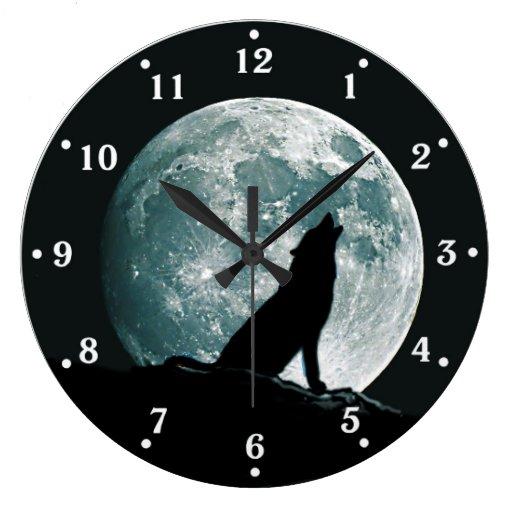 Wolf Howling Wildlife Wall Clock Zazzle