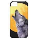 Wolf howls at the full moon iPhone 5C case