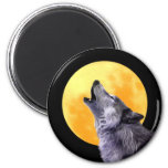 Wolf howls at the full moon magnet