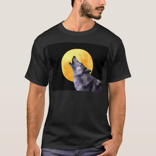 Wolf howls at the full moon T-Shirt
