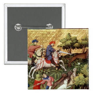 Wolf hunt, from a book pins