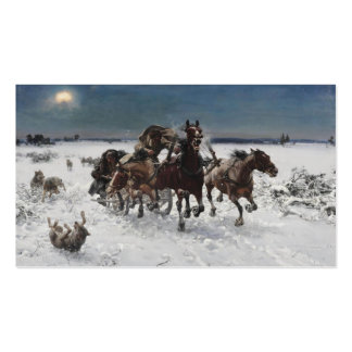Wolf Hunt in the Snow Business Cards