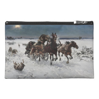 Wolf Hunt in the Snow Travel Accessory Bag
