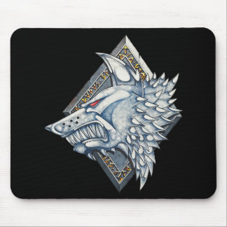Wolf Icon Mouse Pad