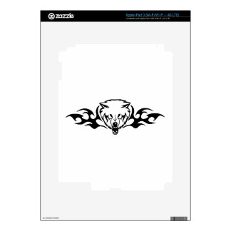 Wolf in Flames iPad 3 Decals