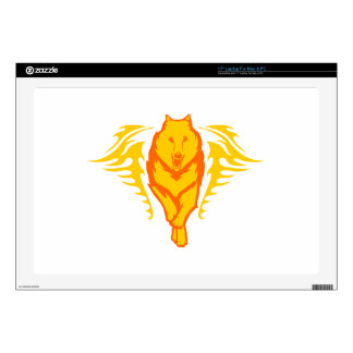 Wolf in Flames Skin For Laptop