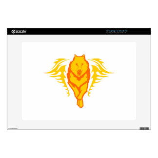 Wolf in Flames Skins For Laptops
