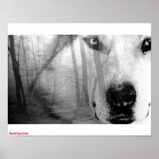 Wolf in Forest Poster   DarkSpectrum original