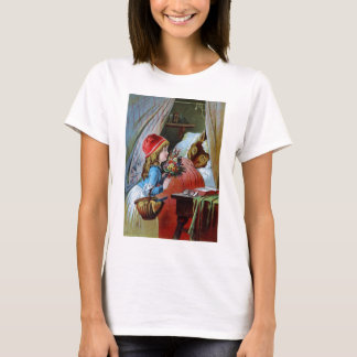 Wolf in Grandma Bed T-Shirt