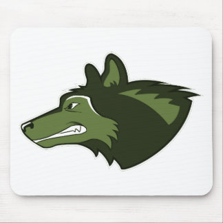 Wolf in Lush Green Mouse Pad