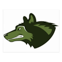 Wolf in Lush Green Postcard