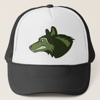 Wolf in Lush Green Trucker Hat