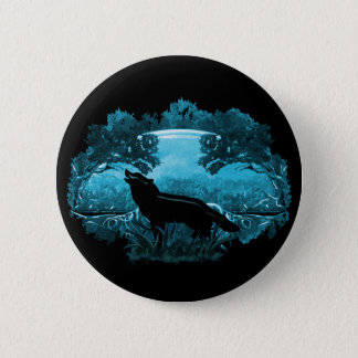 Wolf in Nature Pinback Button