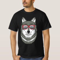 Wolf In Retro Sunglasses T-Shirt