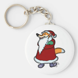 Wolf in Santa Claus Clothing Keychain