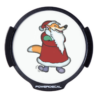 Wolf in Santa Claus Clothing LED Window Decal