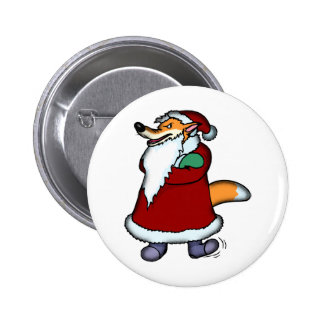 Wolf in Santa Claus Clothing Pinback Button