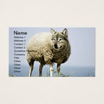 Wolf in Sheep Clothing Business Card