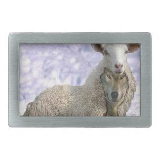 Wolf in Sheep's clothing Belt Buckel Rectangular Belt Buckle