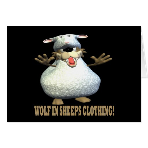 Wolf In Sheeps Clothing Cards