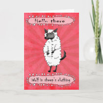 Wolf in sheeps clothing, Hello there. Card