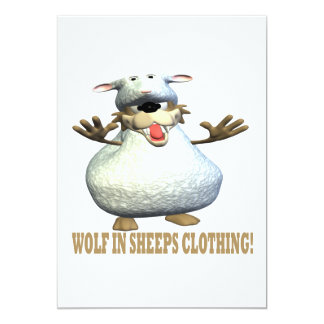 Wolf In Sheeps Clothing Invitations