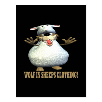 Wolf In Sheeps Clothing Postcard