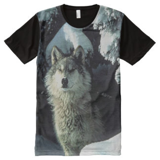 Wolf in snow All-Over print shirt