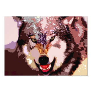 Wolf in Snow Invitation
