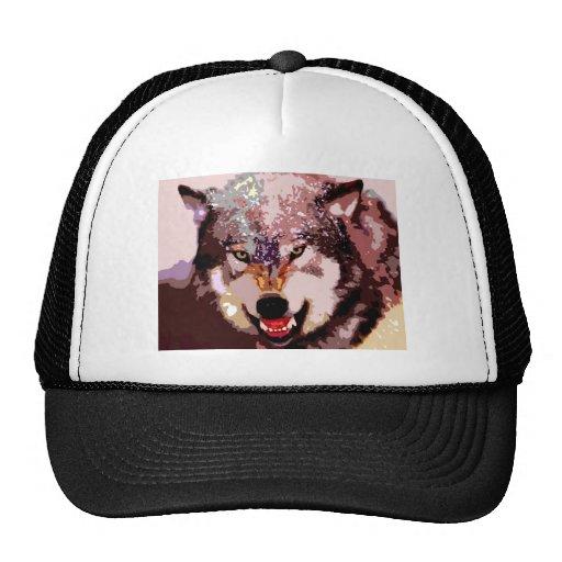 Wolf in Snow Mesh Hat