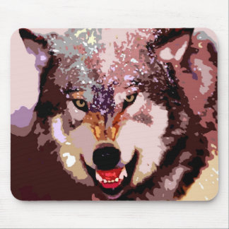 Wolf in Snow Mouse Pad