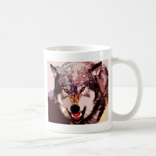 Wolf in Snow Mugs
