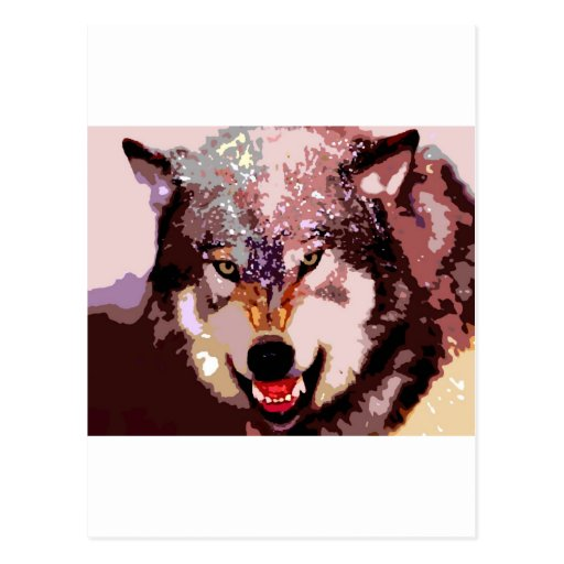 Wolf in Snow Postcard