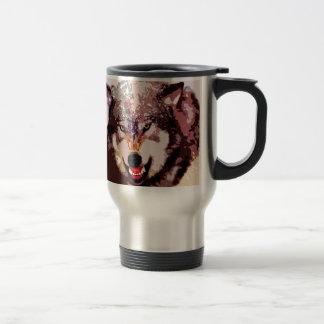 Wolf in Snow Travel Mug