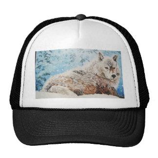 Wolf in Snow Trucker Hat