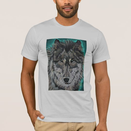 Wolf in Teal Ice American Apparel tee
