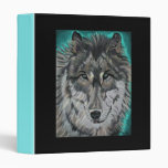 Wolf in Teal Ice binder