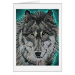 Wolf in Teal Ice notecard Greeting Cards