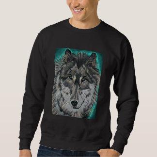 Wolf in Teal Ice sweatshirt