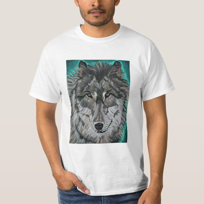Wolf in Teal Ice value tee