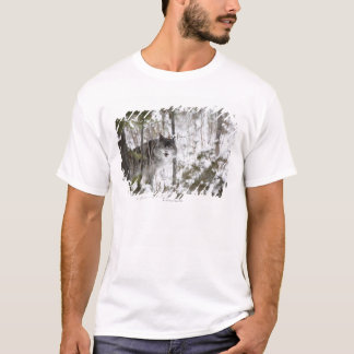 Wolf In The Forest In Winter T-Shirt