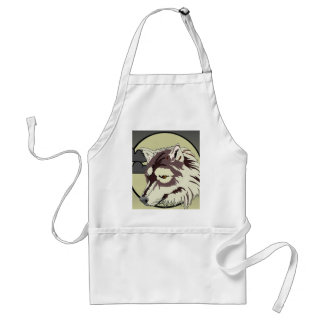 Wolf in the Moonlight Aprons