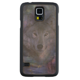 Wolf in the Moonlight Carved® Maple Galaxy S5 Case
